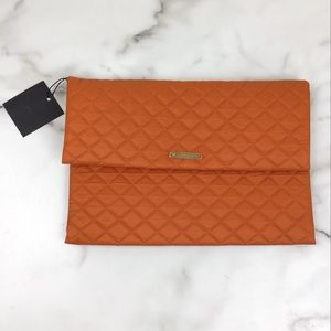 Do Everything In Love Orange Quilted Clutch